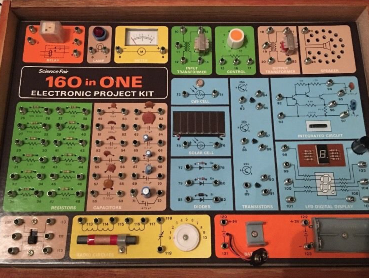 Electronic Project Kits Hands On With A Vintage 160 In 1 Simple Sound Effects Circuits Projects