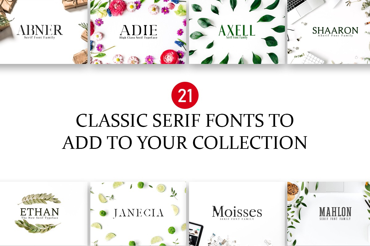 Introducing 20 classic serif fonts that are of the best quality and are a must have for designers bloggers serif fonts are traditional and widely used on