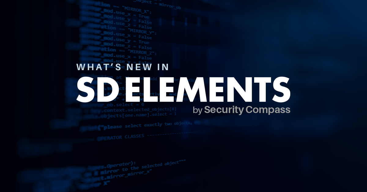 e32287498a71 What s New in Our Latest Versions of SD Elements (September–December ...