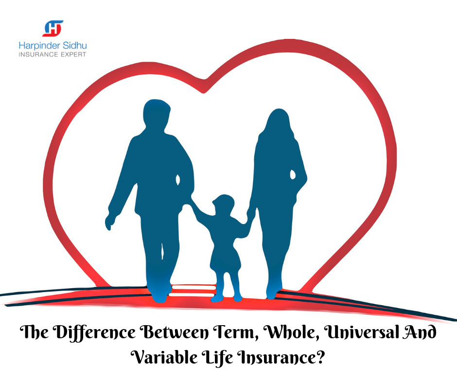 The Difference Between Term Whole Universal And Variable Life Awesome Variable Life Insurance Quote