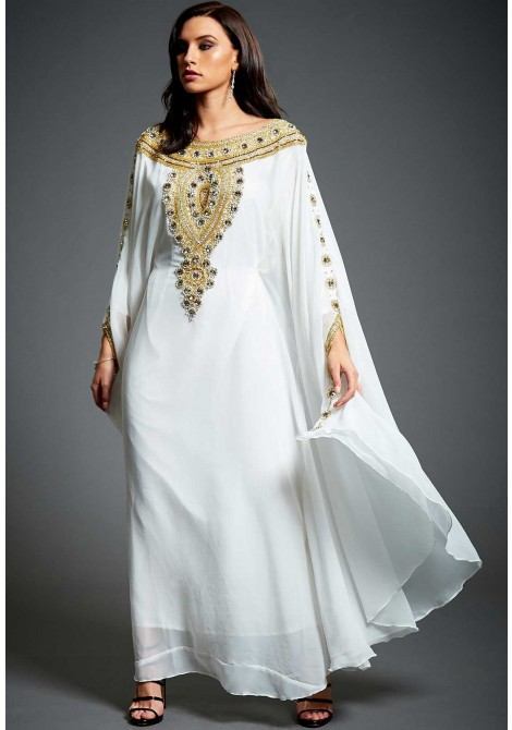 27166bf6136 At its least tough, the kaftan dress is actually a sort of since quite  whereas agony sleeved, lower leg length gown or tunic that closes or  catches within ...