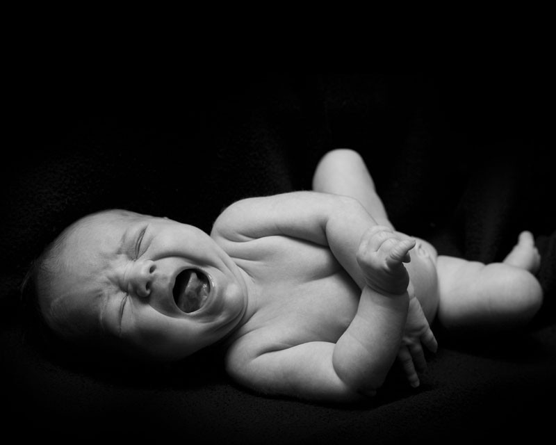 Crying baby cries, gives no fucks.