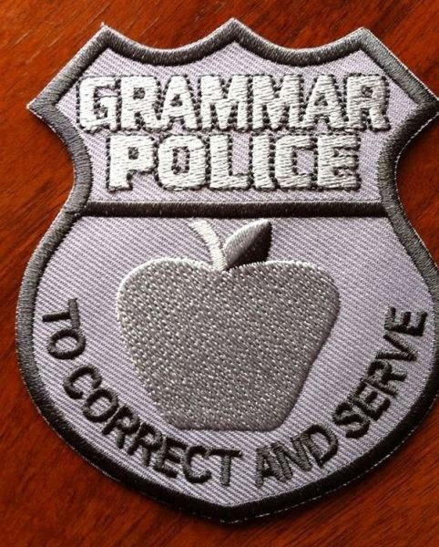 No Grammar Police But Maybe A League Of Language Altruists