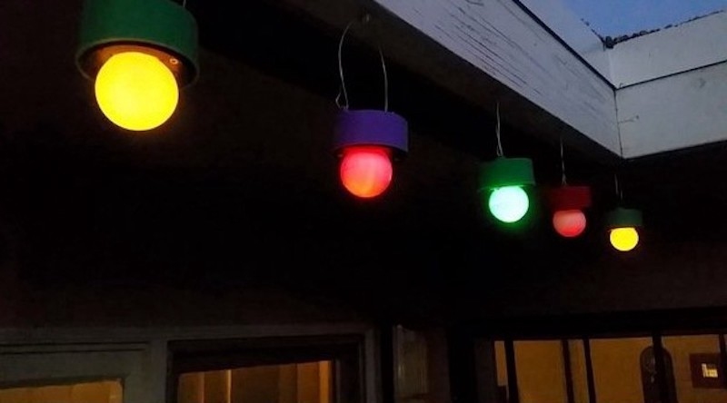 As Velasco Demonstrates Those Solar Ed Garden Lights Really Only Have Four Primary Components The Small Panel A Rechargeable Battery
