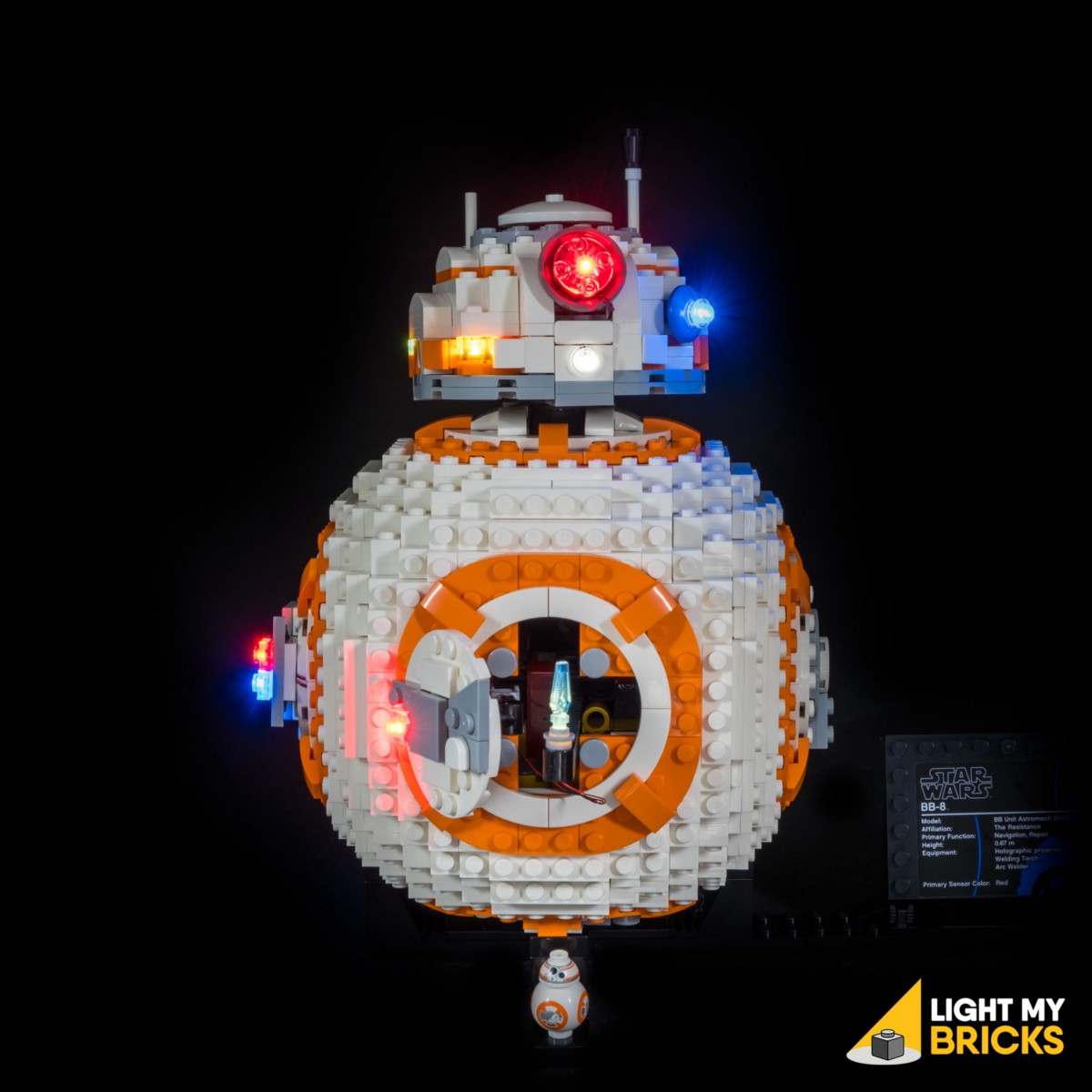 Light My Bricks Bb 8 Lighting Kit Medium Astro Led Torch Circuit This Finally Completes Installation Of The Now Turn On Your Battery Pack And Enjoy