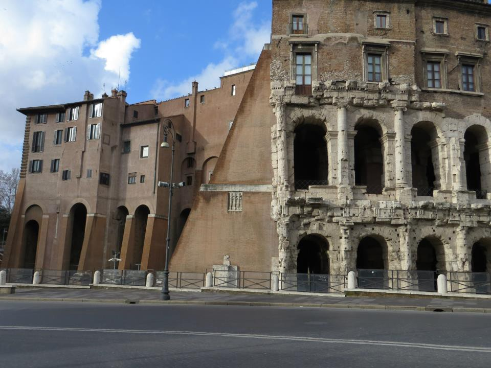 Theater Of Marcellus With Apartments On The Top And To Side Rome 2017