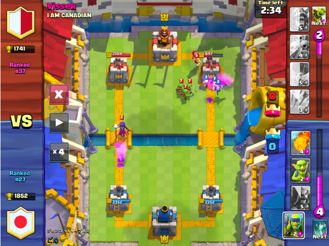 play clash royale for money