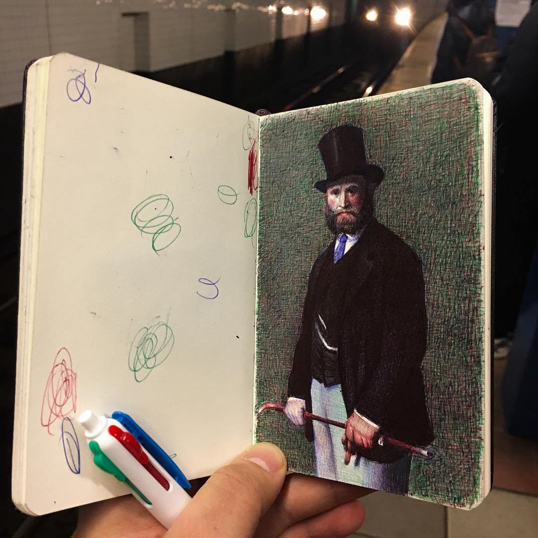 Viewers fortunate enough to get their hands on one of his sketchbooks are treated to page after page of brilliantly rendered slices of life