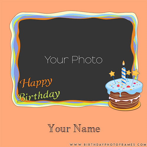 Write Name On Birthday Card With Photo Online Free Happy And
