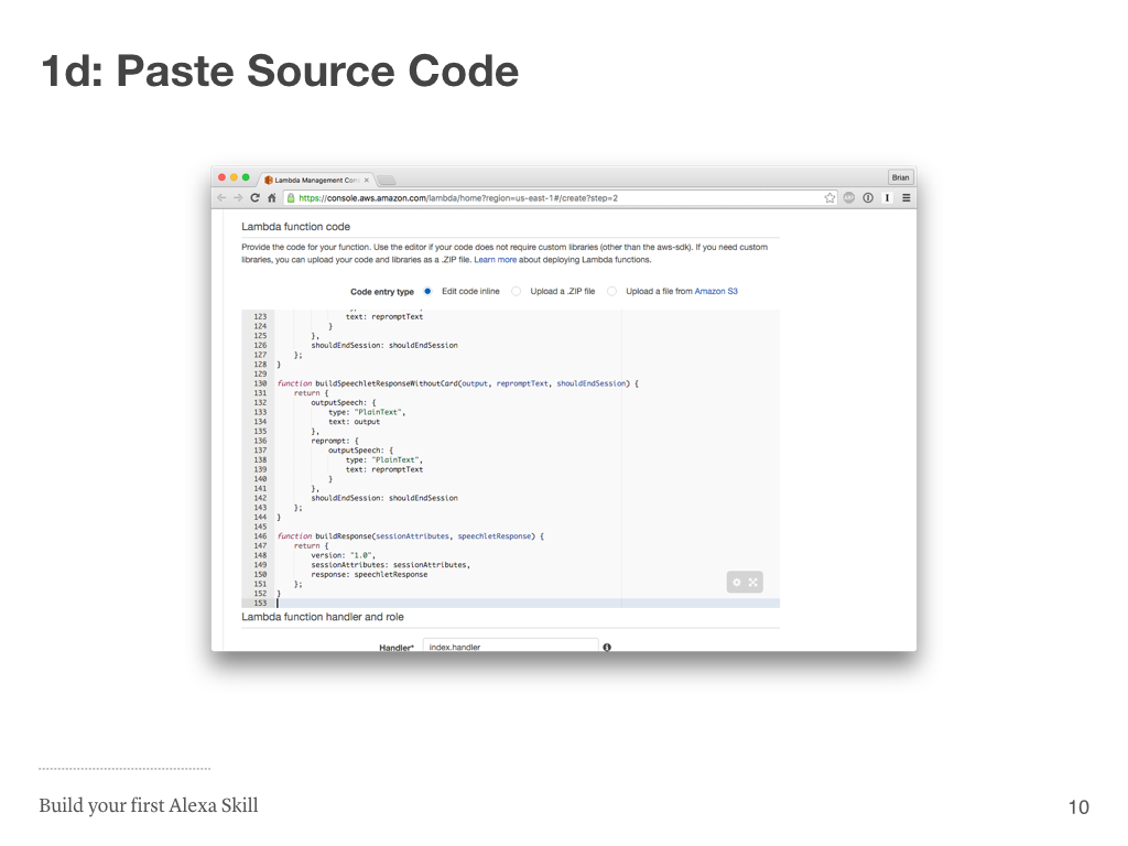 Step 1d: Paste Source Code