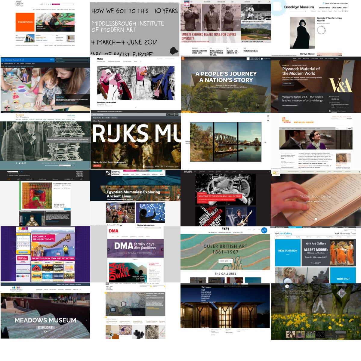 What do the best museum websites all do?