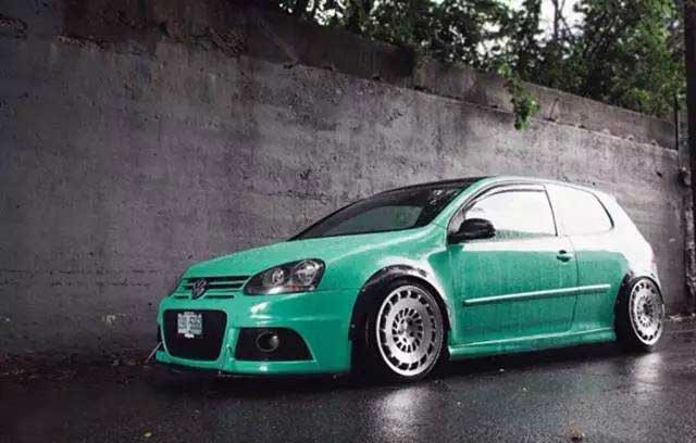 Golf Gti Tiffany Green Style Modification With Player On