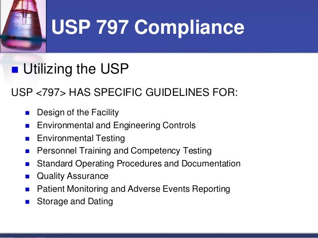 USP 797 Guidelines For Hospitals