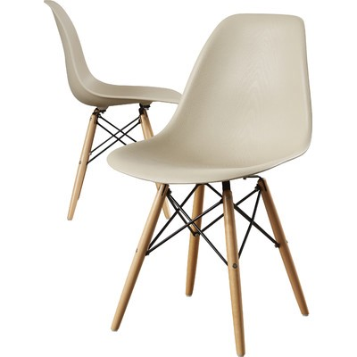 Berlin Dining Chair With Eiffel Wood Legs And Cameron Side Chair By  Corrigan Studio · U0027