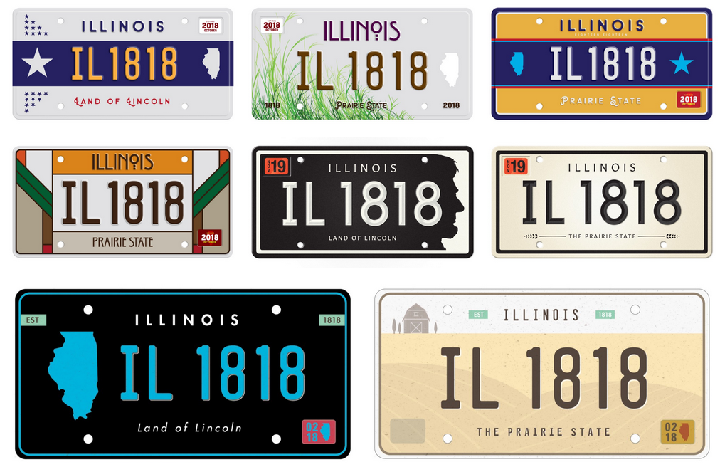 illinois has the single worst license plate in the country.
