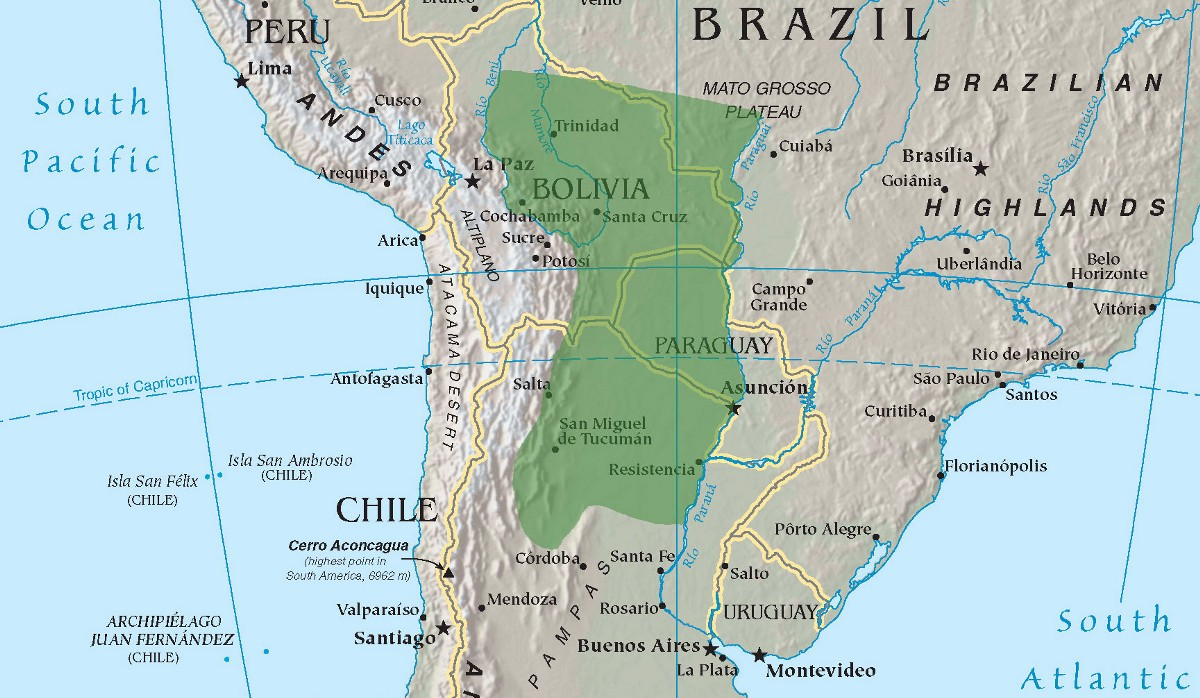 IllGotten Lands Deforestation And Isolation In Paraguays Gran Chaco - South america map gran chaco