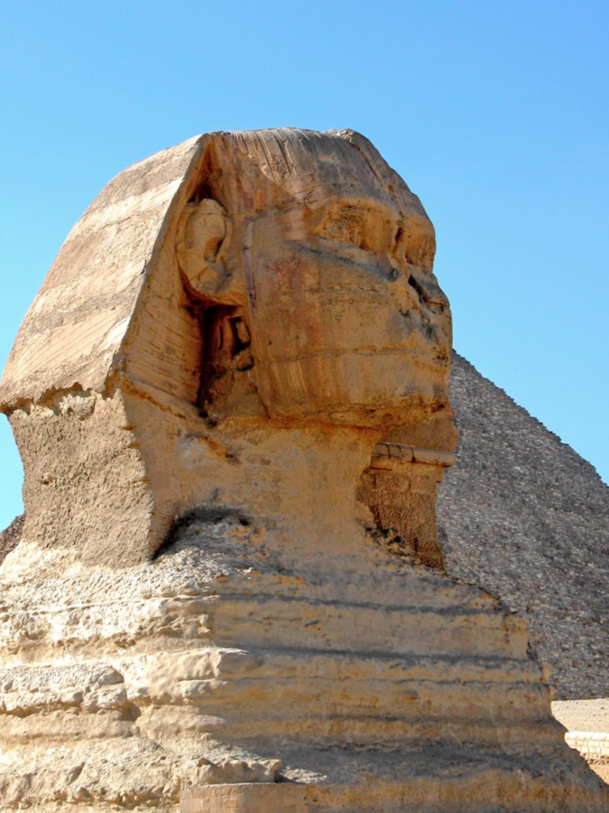 A forensic artist found that the face of the Great Sphinx was not that of Khafre (credit: Dennis Jarvis)