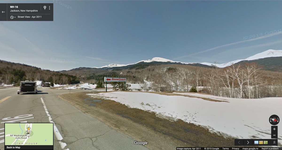 White Mountain Auto >> You Can't Climb Mt. Washington with Google Street View | Post 8 | New Hampshire