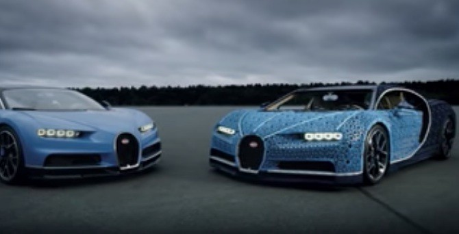 Life Size Lego Bugatti Chiron That Drives And What A Havard