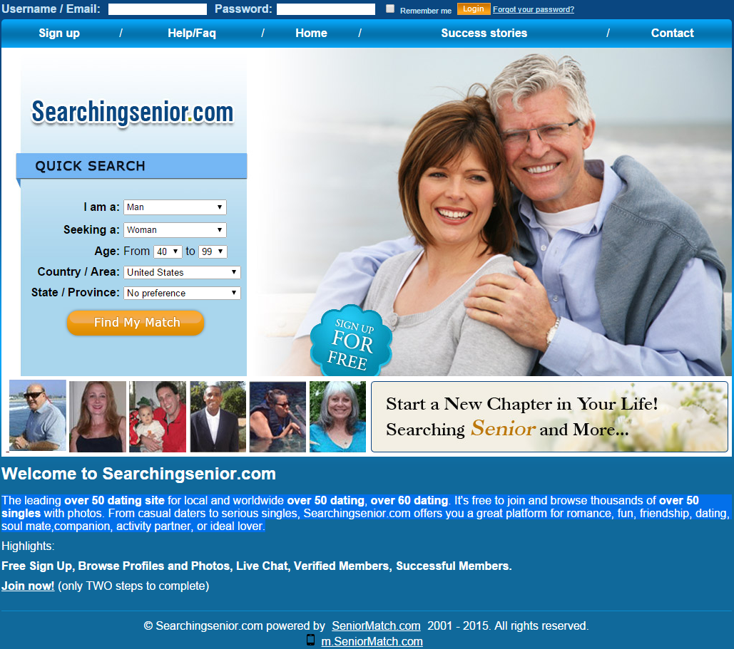 dating sites for those over 50 Senior dating at seniormatchcom the largest and most effective senior dating site for baby boomers and seniors seniormatch focuses on users over 50 years of age and does not allow members under the age of 45.