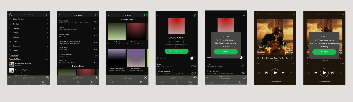 Spotify Concept: Risk-free Music Exploration