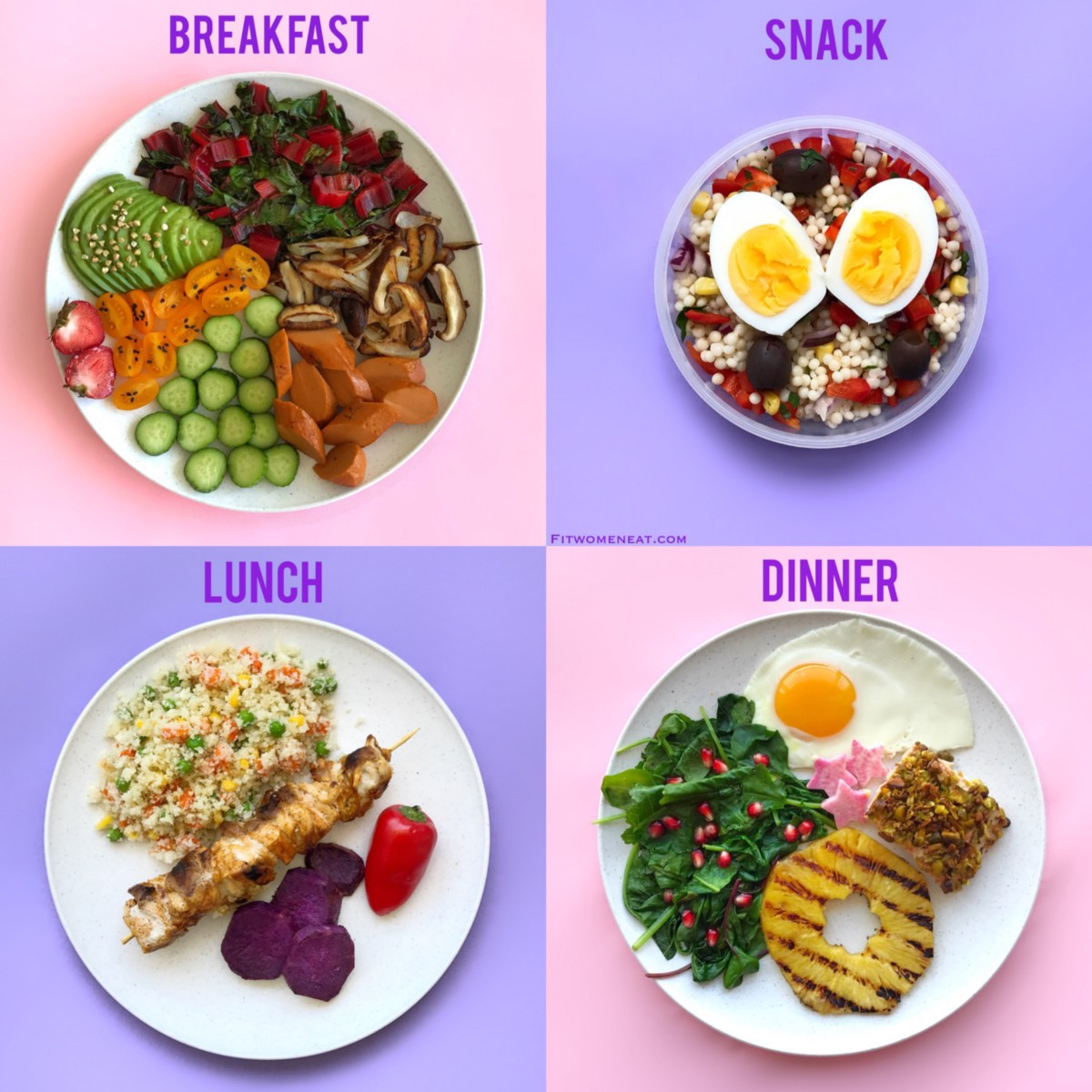 Colorful Meal Prep Break Down – Fit Women Eat