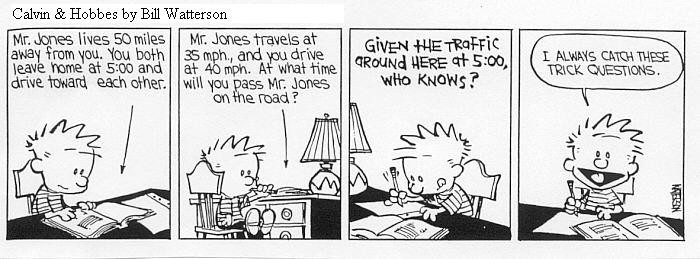 calvin and hobbes on writing a thesis The entire body of calvin and hobbes cartoons published in a truly noteworthy tribute to this singular cartoon in the complete calvin and hobbes write a customer review customer images see all customer images most recent customer reviews.
