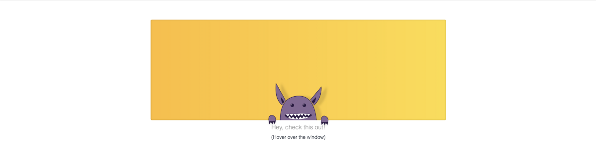 Monsters, Playful interactions and Animated SVGs