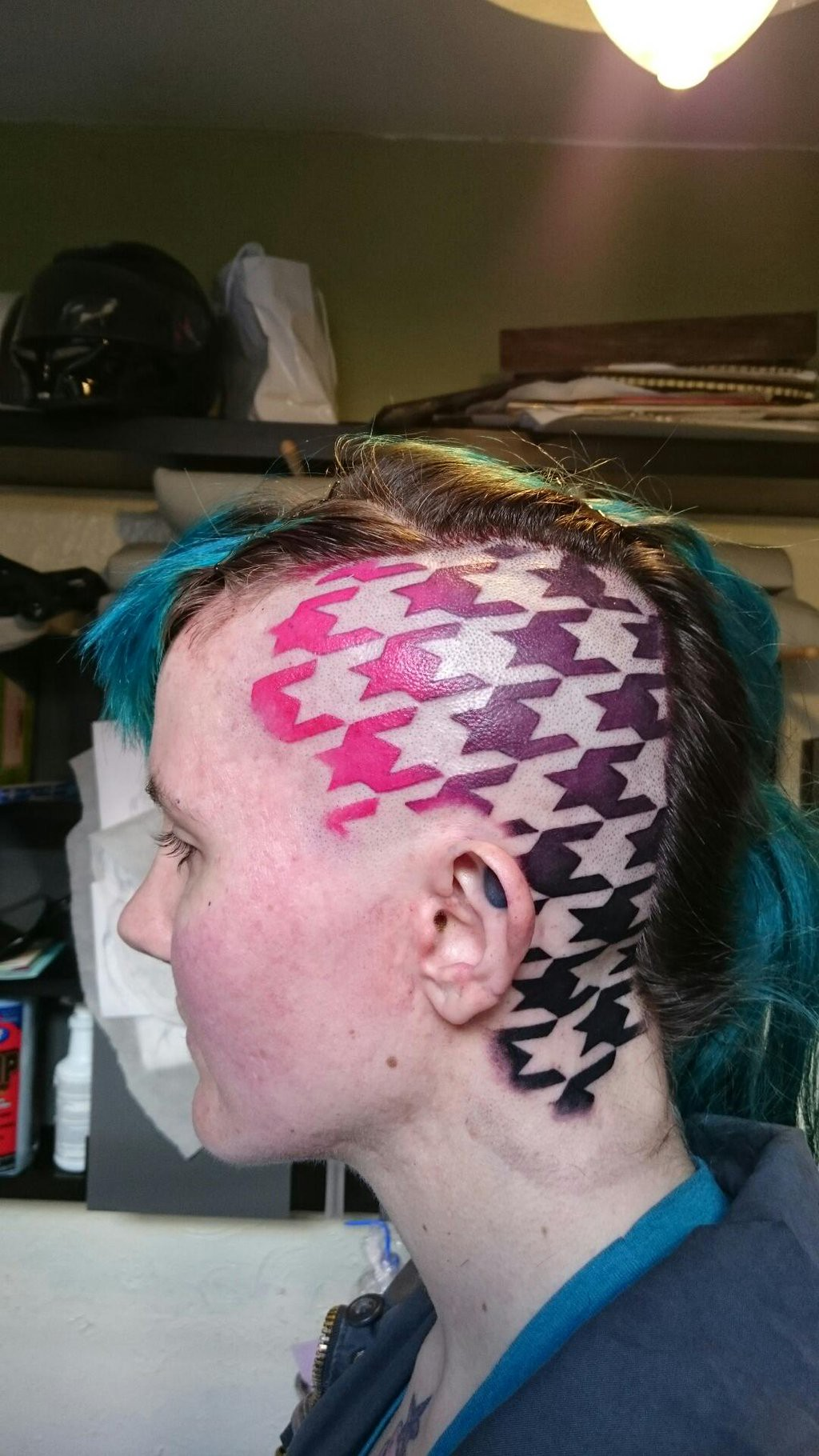What to expect when you re expecting a head tattoo tilde for Tattoos on side of head