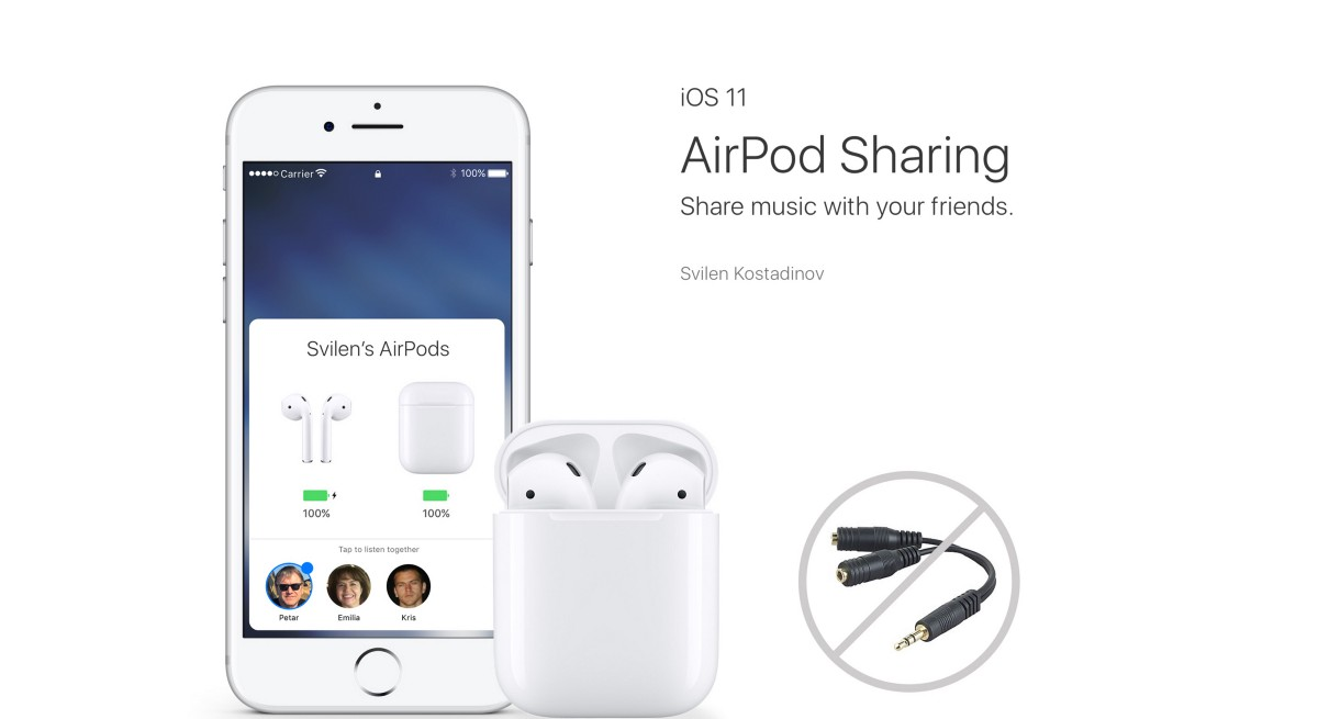 iOS AirPods Sharing Concept
