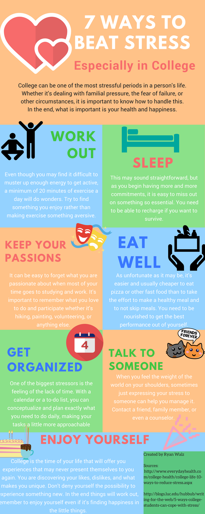 Stress Tips for College Students #Infographic - Ryan - Medium