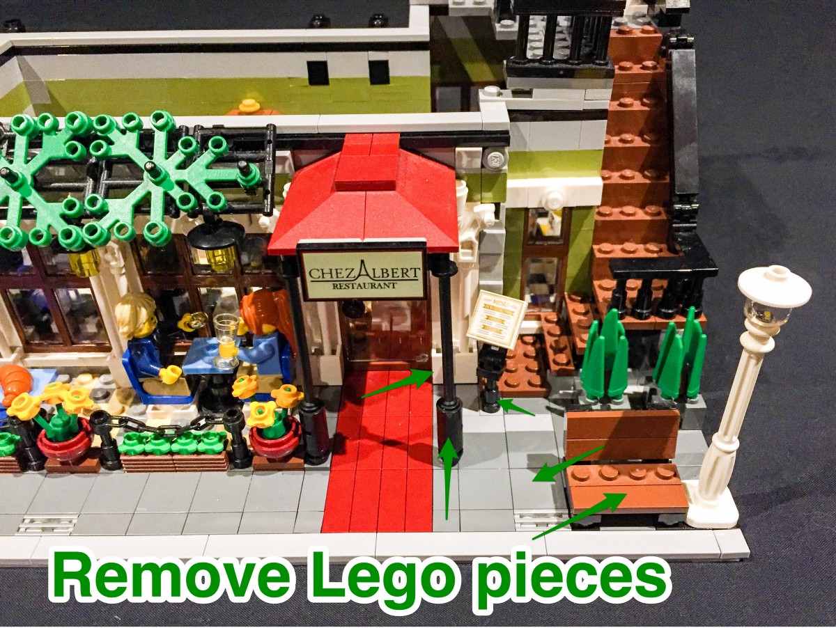 To Enable Us To Lay The Cable For The Lamp Post Underneath The Brick Tiles,  Remove The Following Tiles As Per Below.