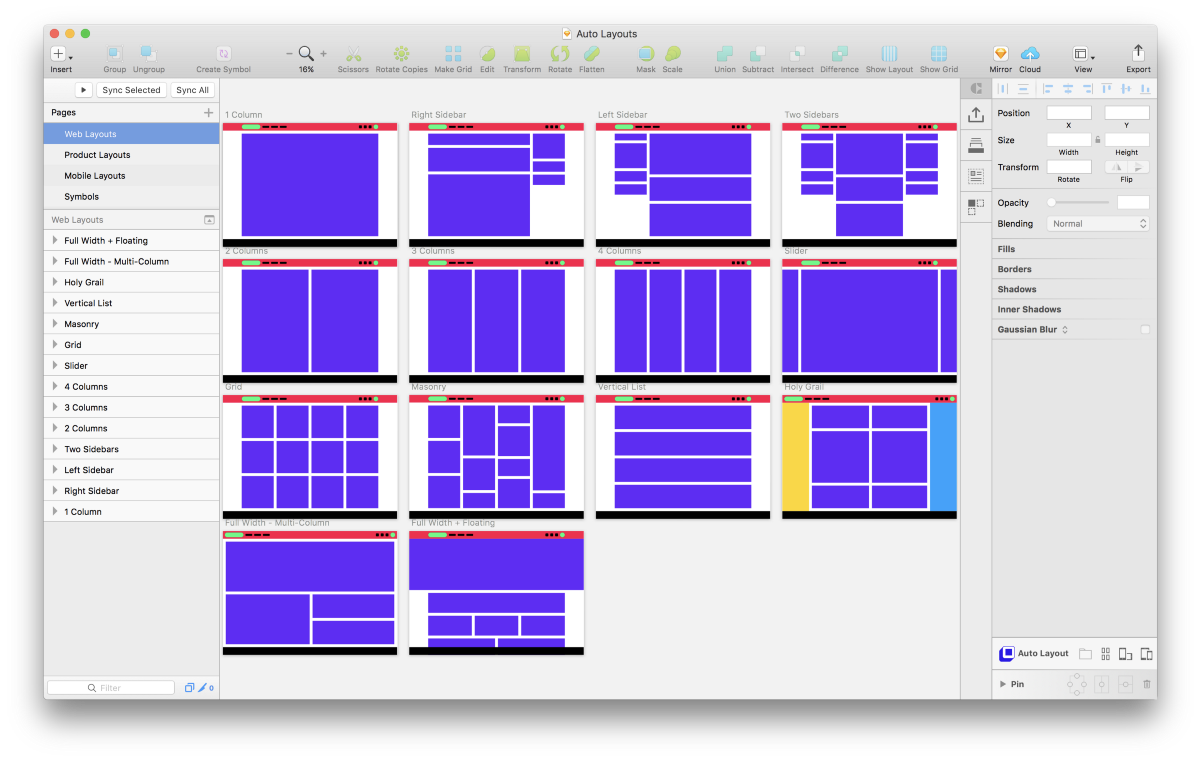 """Blockframing"""" and 31 Free Sketch-Ready Layouts Using Auto Layout by"""