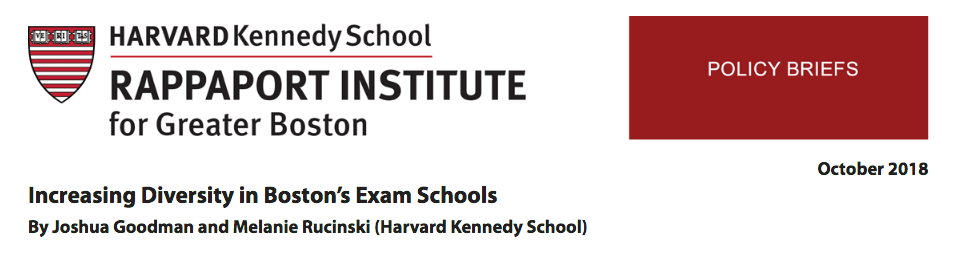 Two Studies Led To Many Ideas For Making The Exam Schools Look More