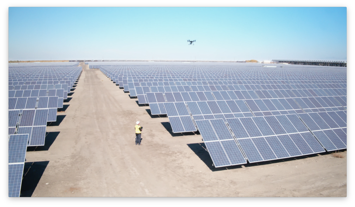 Drones Help Solar Energy Companies Improve Productivity