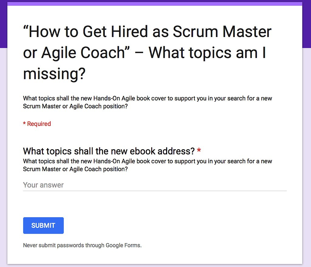 Scrum Master Ebook