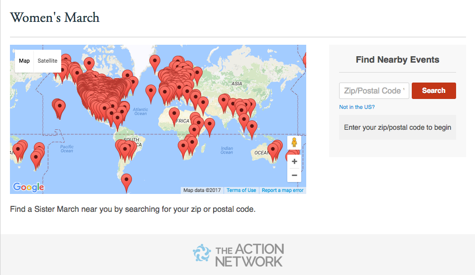 ANPartner Case Study Womens March Mobilizes Millions Worldwide - Womens march map of the us