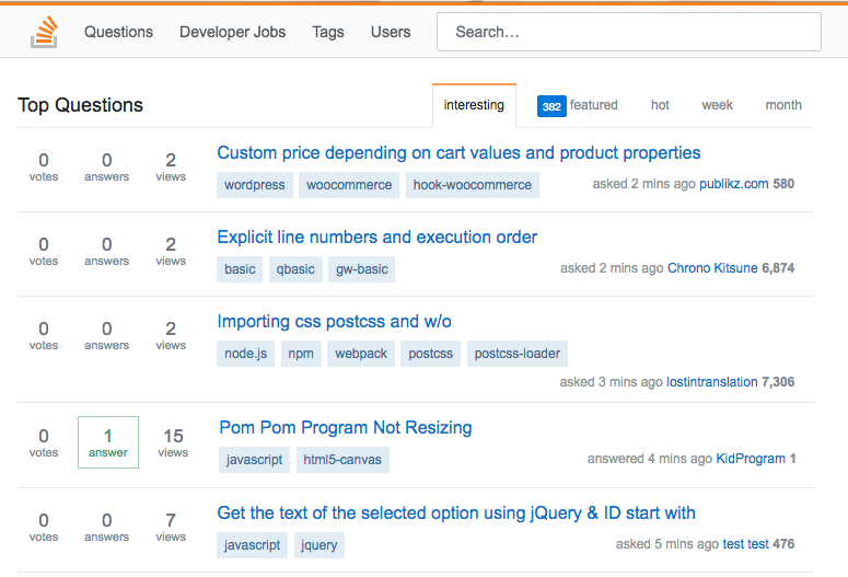 StackOverflow Clone Free Download