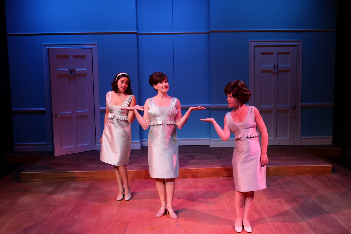 Tiffany Chen, Aimee Doherty*, and McCaela Donovan in One Man, Two Guvnors