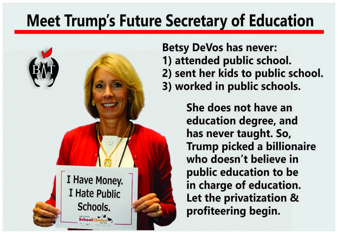 Our Next Secretary Of Education Should >> An Educators Explanation On Why Betsy Devos Can T Be Our Next