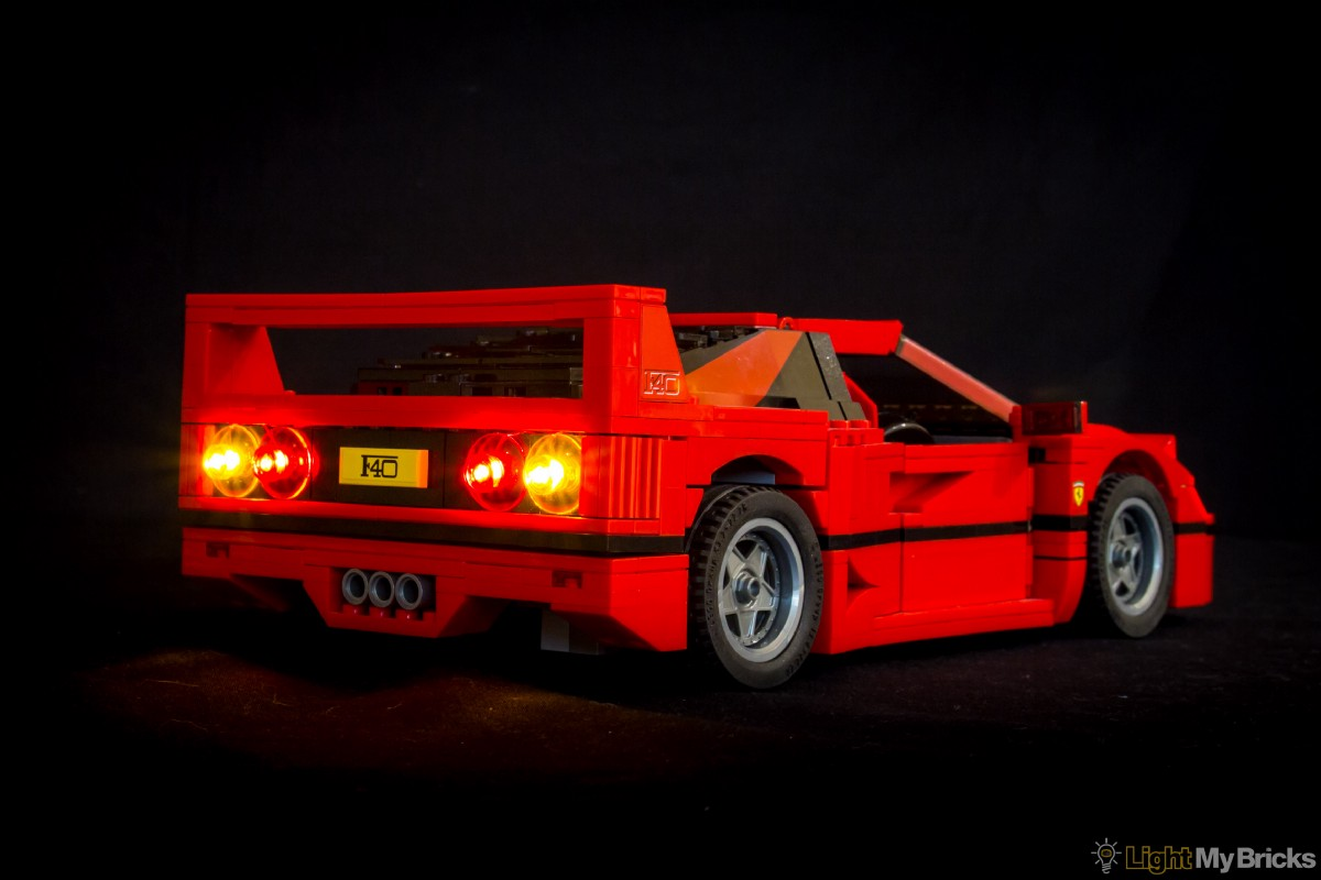 light my bricks ferrari f40 led lighting kit light my bricks medium. Black Bedroom Furniture Sets. Home Design Ideas
