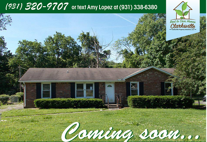 Coming Soon Rent To Own Property 114 Dave Dr Clarksville Tennessee