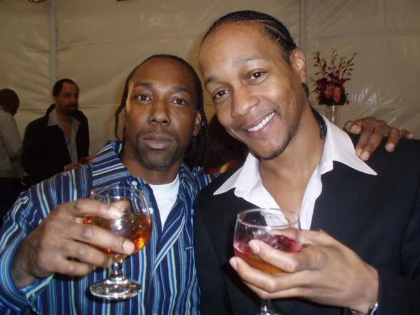 Photo of DJ Quik  & his friend MC Eiht Beef
