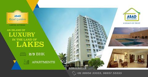Abad Builders Have Launched The Flats In Kottayam Are For Now By Group Top Apartments Royal Gardens