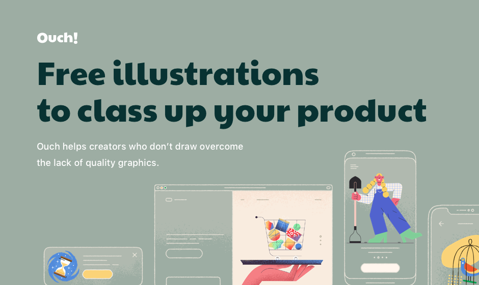 Meet Ouch! Free Vector Illustrations to Class Up Your Product