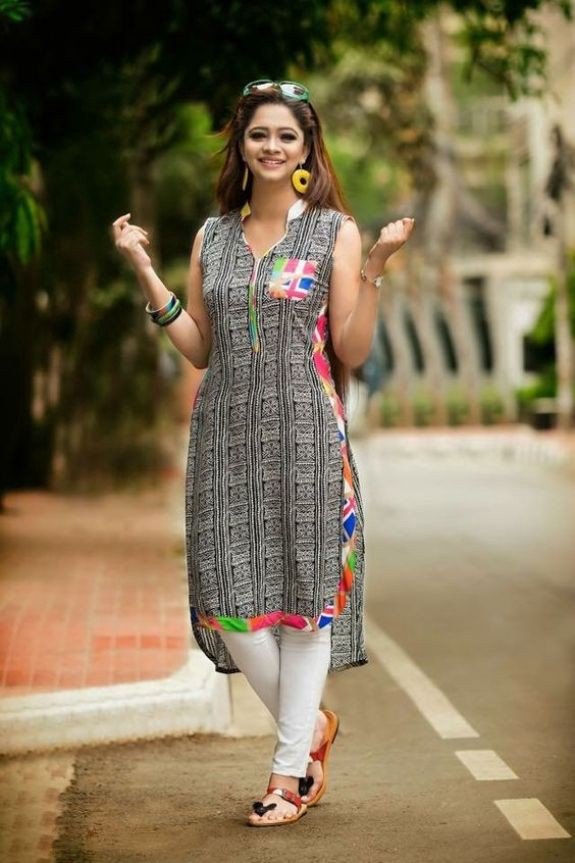 latest designs of kurtis pattern in india 2018 cotton duniya medium