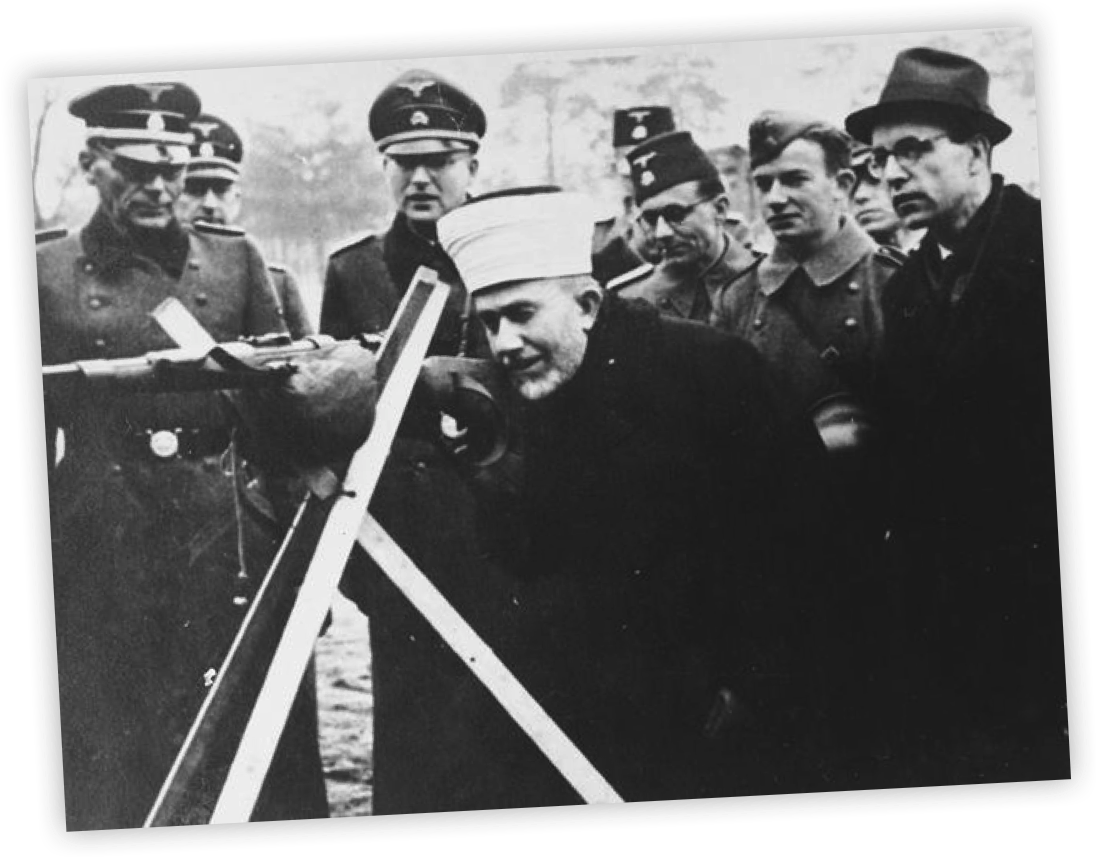 The nazis with the help of an arab cleric used islamic extremists the main such extremist was al husseini grand mufti of jerusalem and the highest ranking muslim political leader in palestine biocorpaavc Image collections