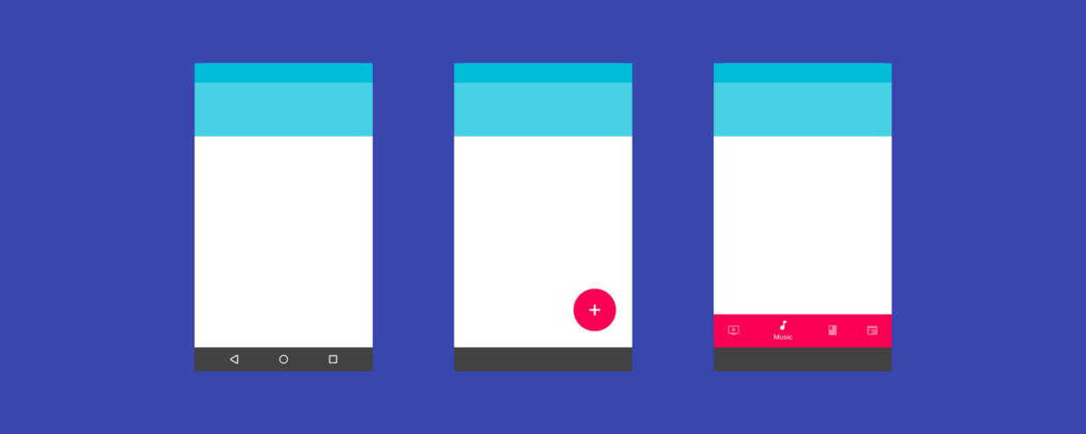 blue rectangular designs material design and the mystery meat navigation problem