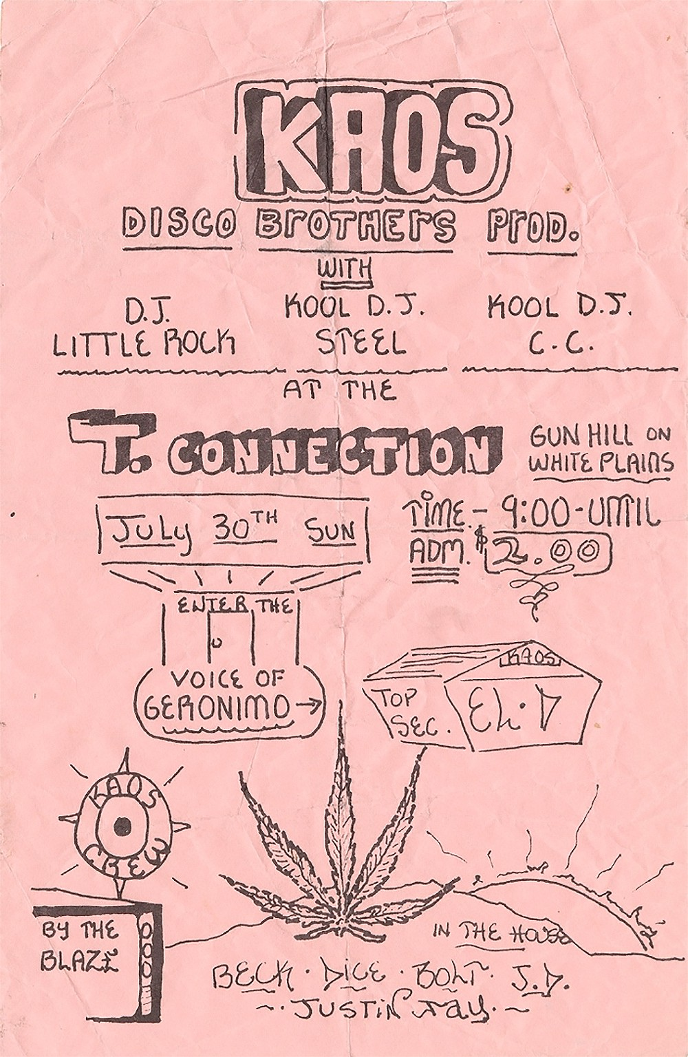 These Handmade Flyers From The Earliest Days Of Hip Hop