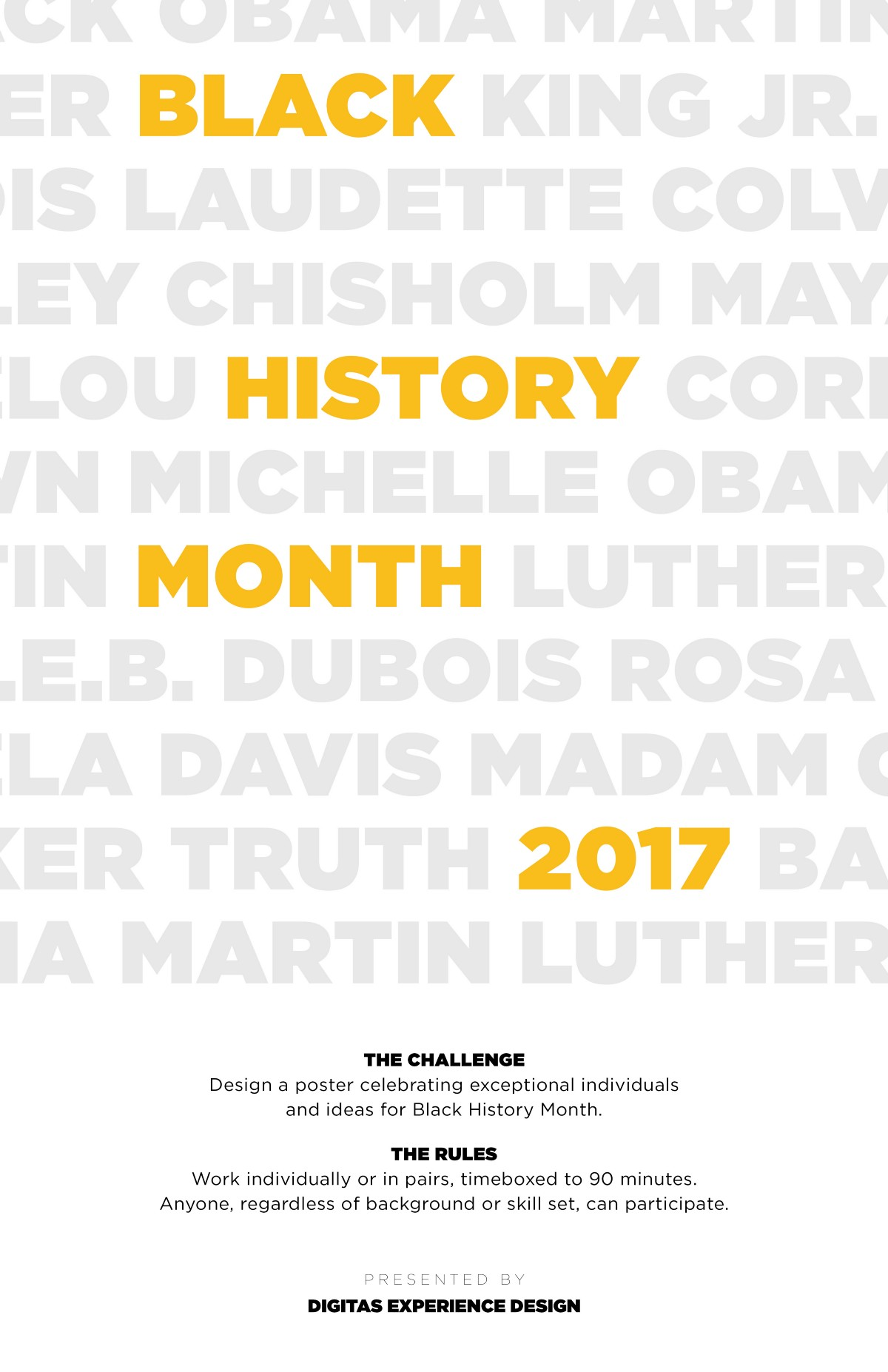 Black History Month Poster Series 2017 Stop Drop